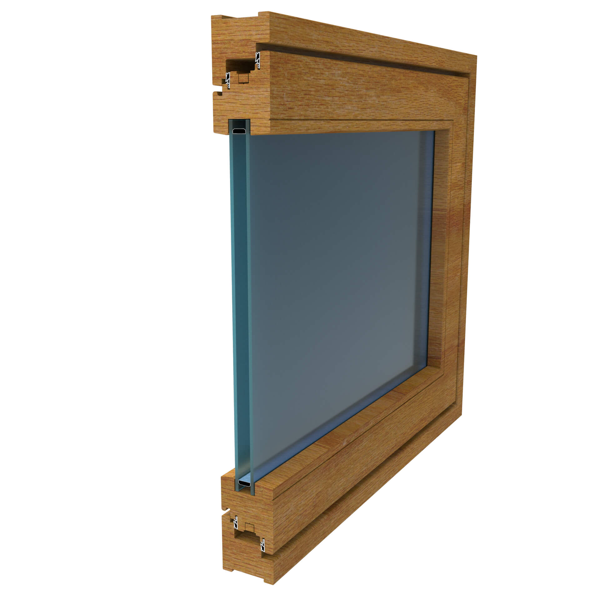 WINDOR® Holzfenster WIN WOOD 68® Außenprofil