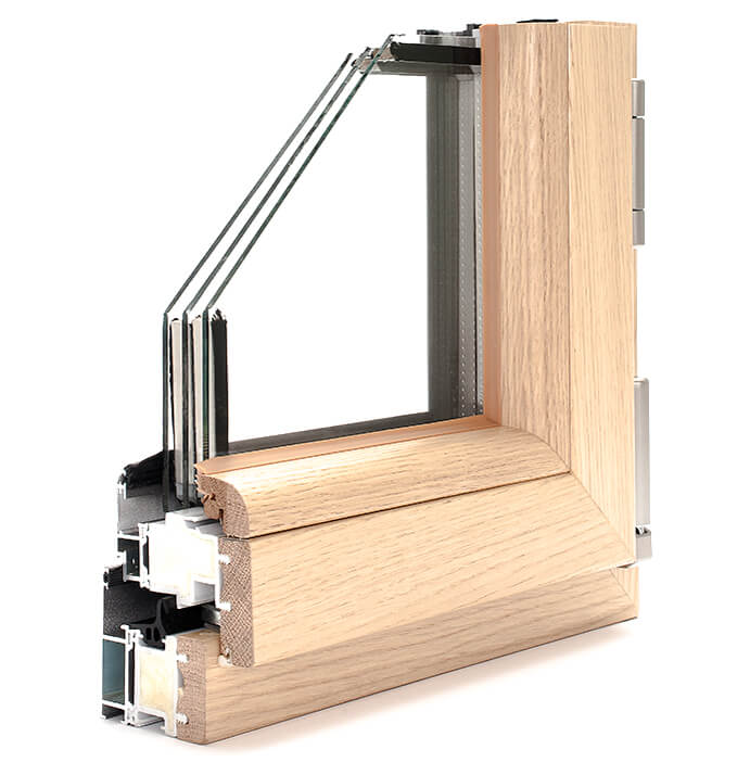 WINDOR® Timber-Aluminium Window Compakt ULTRA® Internal Profile