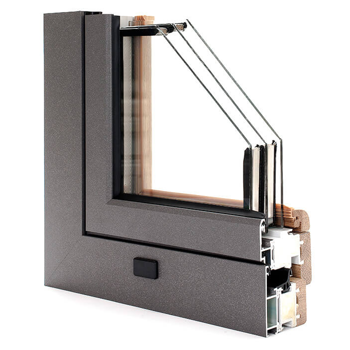 WINDOR® Timber-Aluminium Window Compakt ULTRA® External Profile