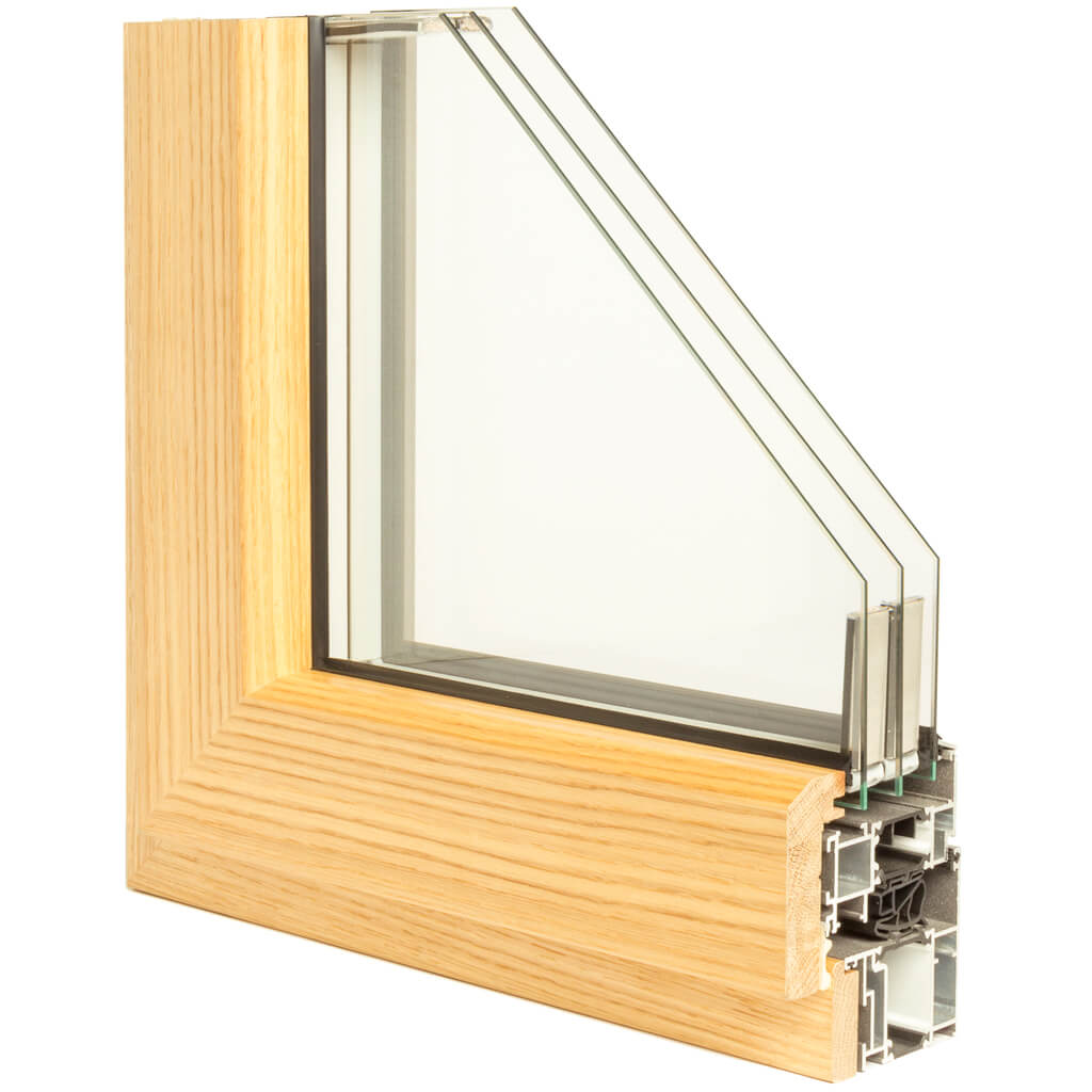 WINDOR® Timber-Aluminium Window ULTRA AD 77® Internal Profile