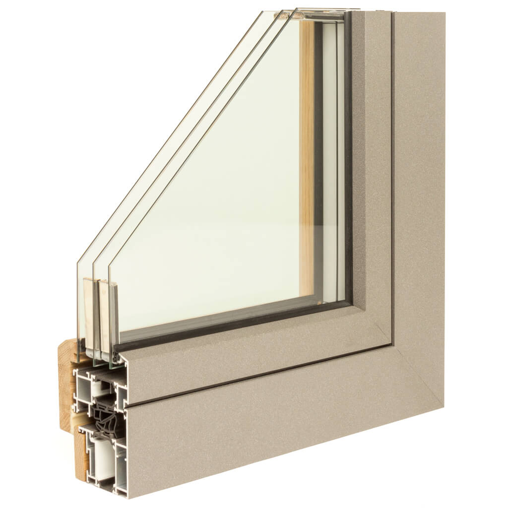 WINDOR® Timber-Aluminium Window ULTRA AD 77® External Profile